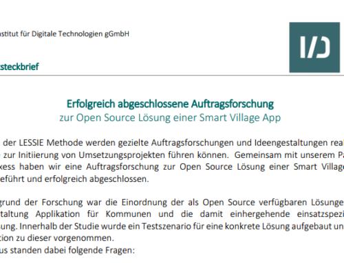 Auftragsforschung zur Open Source Lösung einer Smart Village App